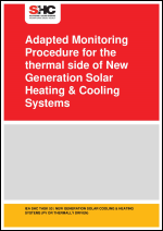 Adapted Monitoring Procedure for the thermal side of New Generation Solar Heating & Cooling Systems