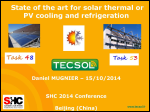 State of the Art for Solar Thermal or PV Cooling and Refrigeration